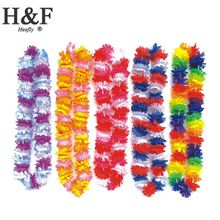 flower artificial Hawaii Wreath Silk Flower Lei Party Supplies Garland Cheerleading Products Hawaii Necklace Manufacturer HH0023