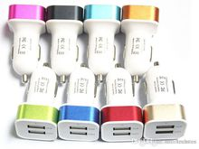 Metal 3.1A Dual USB 2 Port Car Charger Adapter For Tablet Ipad Iphone5 6 6Plus Samsung S6edge Note4 Note3 Mobile Phone