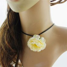 Free shipping fashion new short paragraph of women rose collarbone necklace Christmas gifts party accessories
