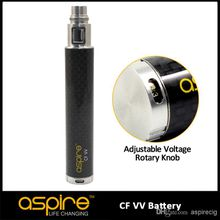 Wholesale - Eigate Hot Sell New Designed Original Aspire CF VV Battery Best ego battery Free Shipping