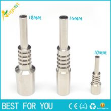 2015 Nectar Collector Titanium Nail Joints GR2 titanium nails for Honey Dab Straw Concentrate Glass Water Pipe Bong Oil Rigs quartz nail