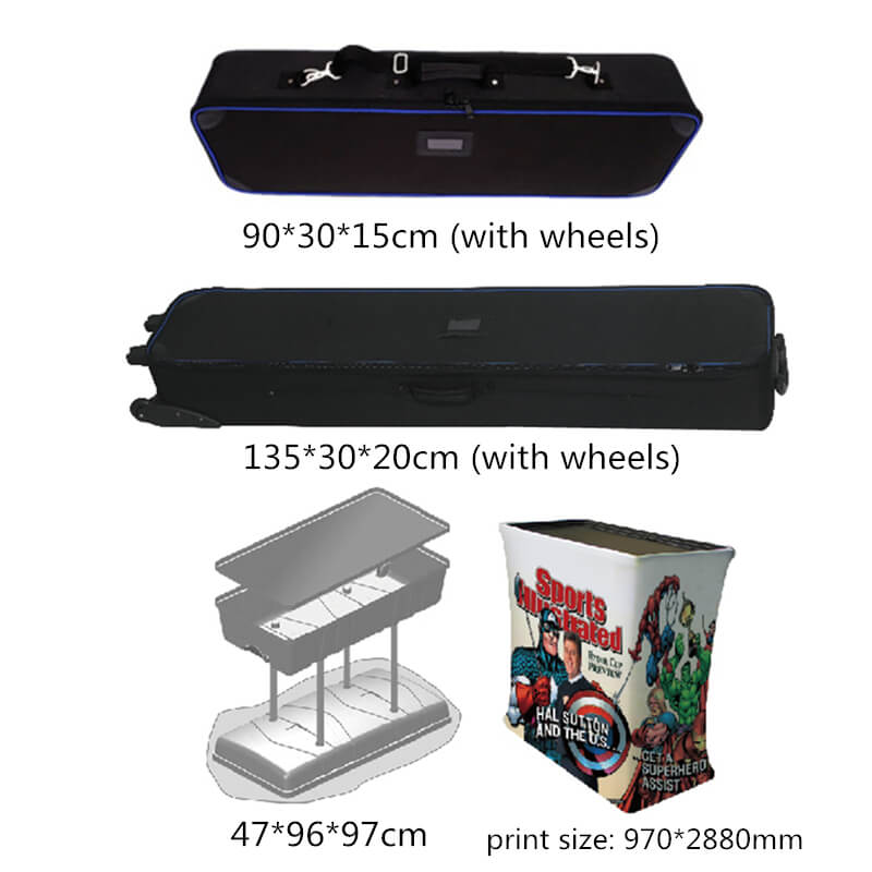 Smart Expo Semi-Circular Arc Display Stand with Aluminum Tubes Structure Custom Printing Graphic Carry Bag