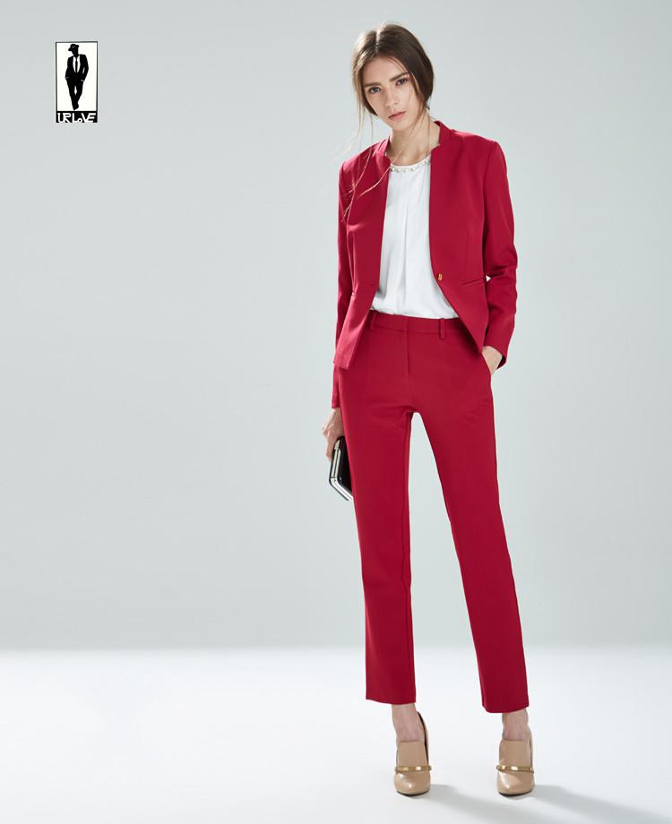 6d6b3f461 Red Fashion Trend Jacket Pants Office Uniform Bussiness Ladies Office Wear  Suits Formal Elegant Pants Suits ...
