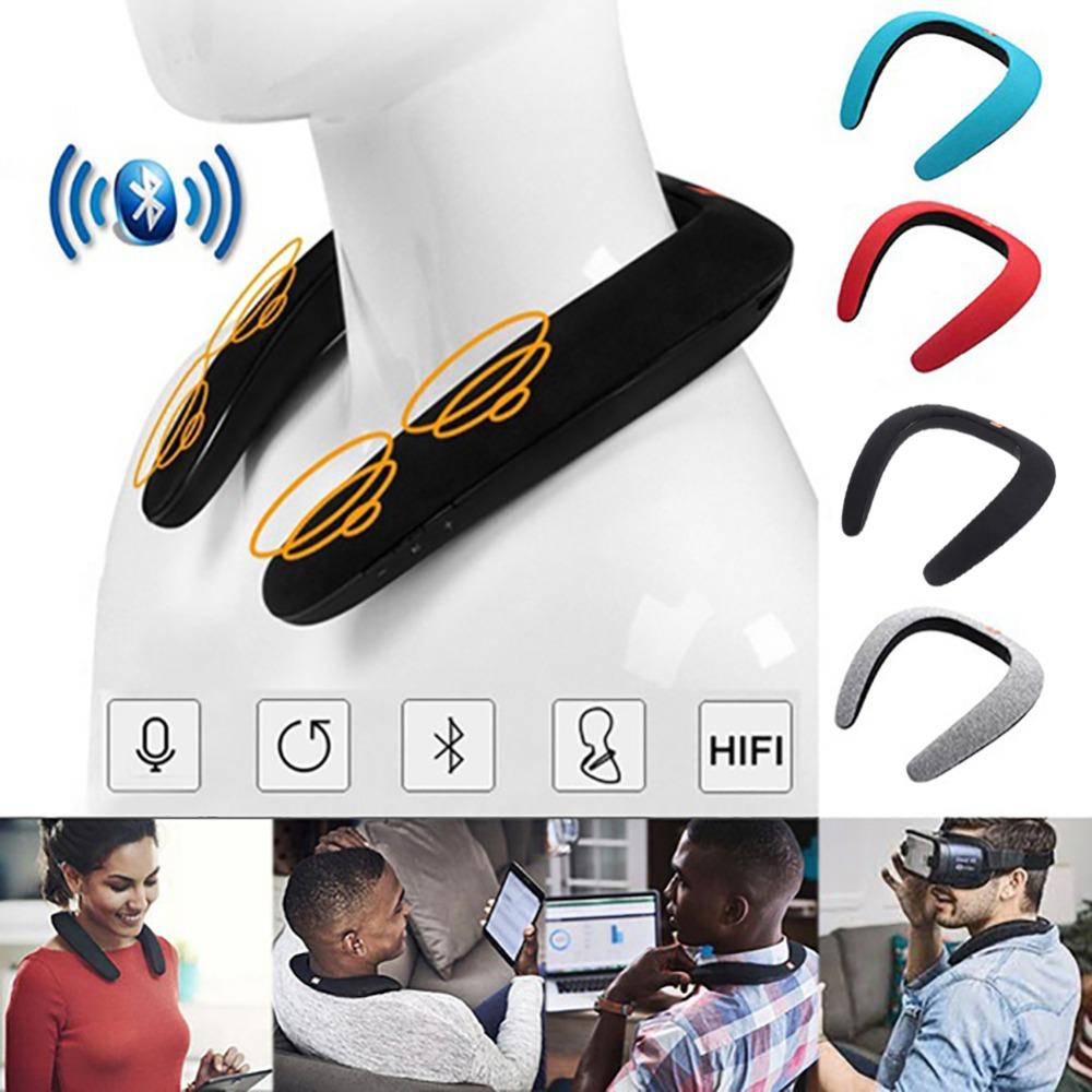 New Neck Novelty Bluetooth Wearable Speaker Subwoofer Magic Bluetooth Sports Speaker Wireless Bluetooth Portable Speakers