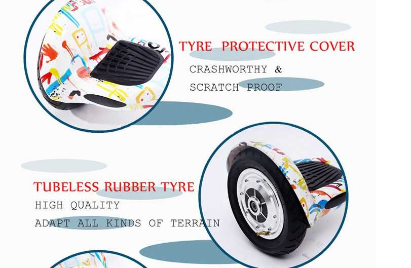 10 inch self balancing hover electric scooter