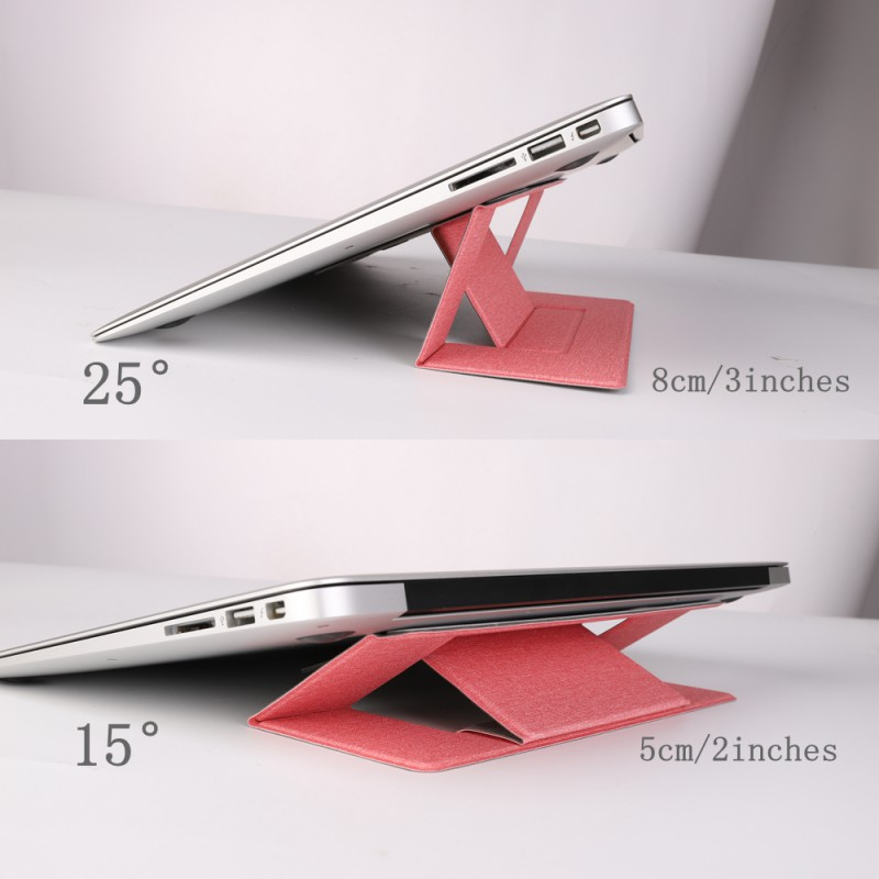 Invisible Laptop Stand Ultra Thin Adjustable Portable Folding Tablet Holder for IPad MacBook Air Mac Desk Stands Tablet Mount