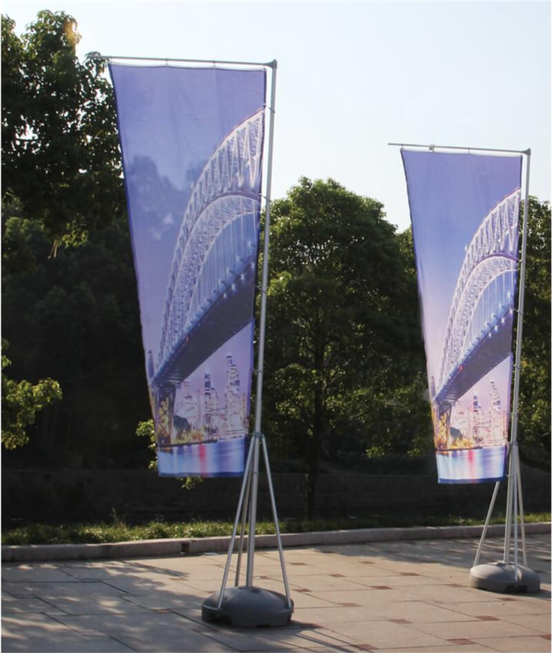 Smart Expo Feather Flying Flag Banner Giant Water Base Polyester