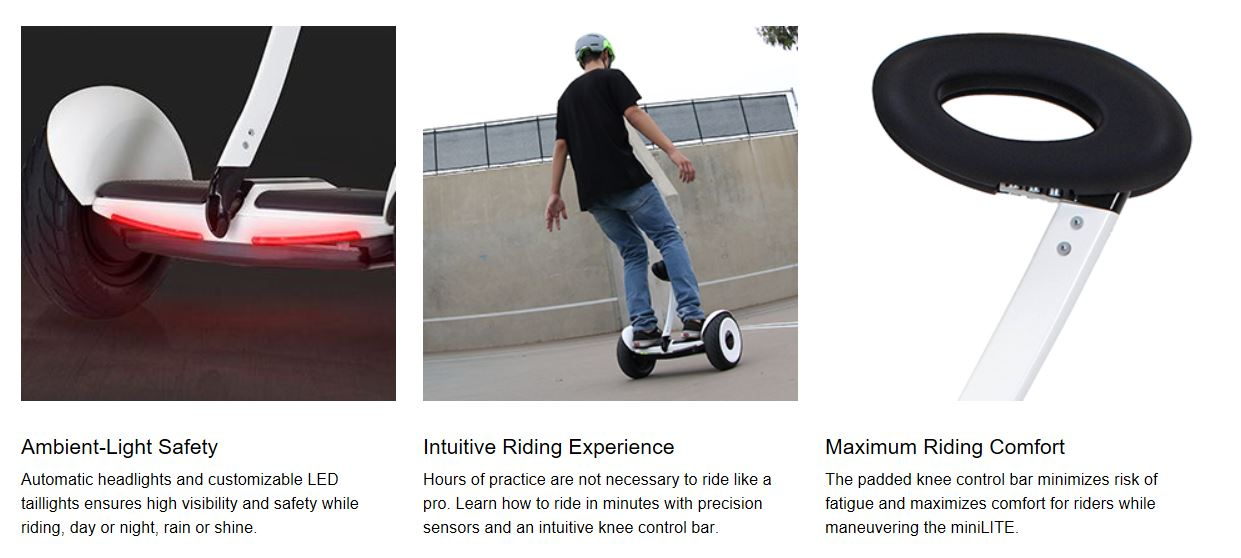 10 inch self balancing hoverboard electric scooter with handle