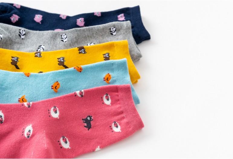 New Women's Socks, Cotton Socks, Waist Socks, Korean Imported Combed Cotton Socks, Small Animal Leisure Personality College