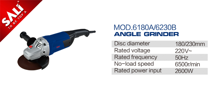 230mm Electric Wet Surface Power Tools Angle Grinder P010230b