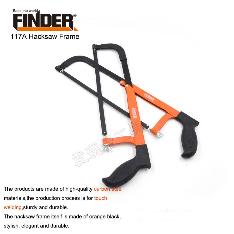 12 inch with a comfortable pistol handle hacksaw frame