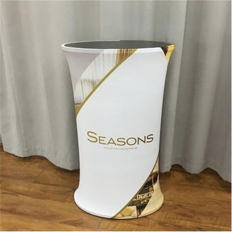 Smart Expo Portable High-Density Board Custom Stretch Graphic Trade Show Supplies Promotion Counter with Custom Printing Graphic Carry Bag