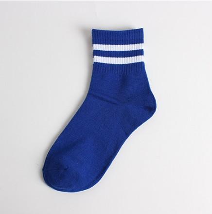 Japanese and Korean Harajuku College wind striped socks New street fashion socks two socks black and white college socks