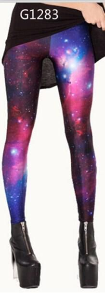 Adventure time Women Sexy Florid Universe Stars Galaxy Skinny Leggings Tights Stylish High Elastic Leggings for Women Hot Sell Legging