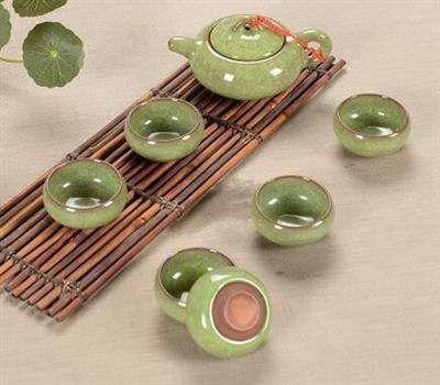Ceramic tea set customiractical durable strong