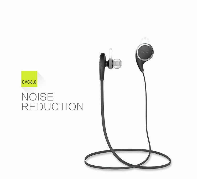 100% Original QCY QY8 [Qy7 New Version] Wireless Bluetooth 4.1 Earphone Fashion Sport Running Headphone Studio Music Headset