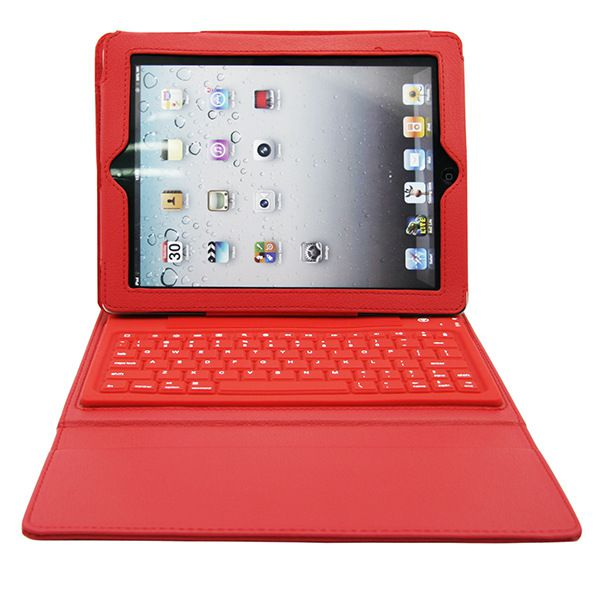 Wireless Bluetooth Keyboard Case For Pad 2 Air Mini Tablet Leather Case With Slicone Keyboard Bluetooth Keyboard