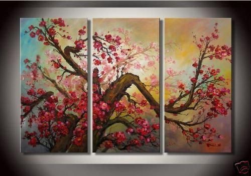 Free shipping MODERN ABSTRACT CANVAS ART OIL PAINTING Guaranteed decoration oil painting elegance Modern plum flowers art fz128