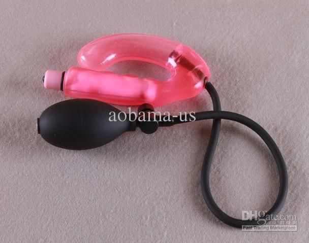 2013 New inflatable Vibrating G-spot anal sex toy prostate massager sex toy for men