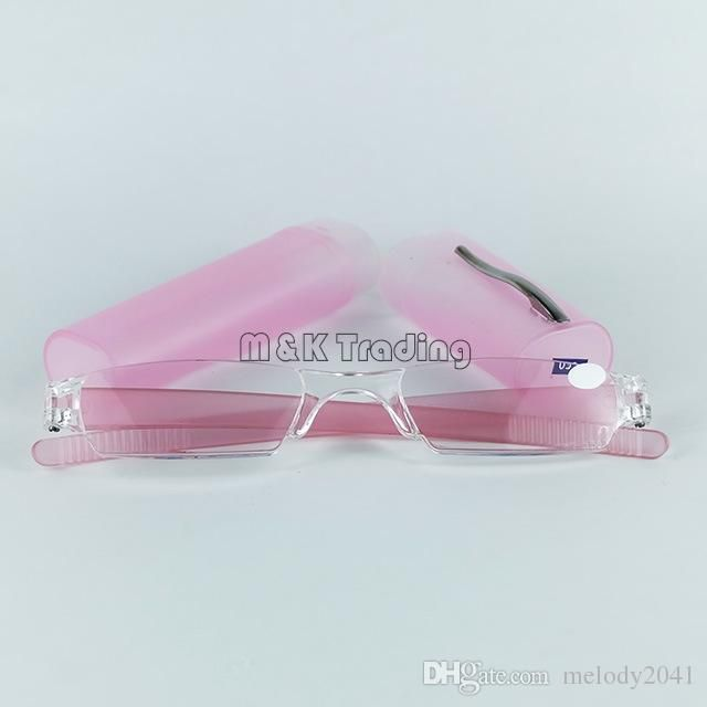 Slim Reading Glasses Plastic Tube Reading Eyewear PC Power Lens Mixed Colors Free Shipping With 20pcs