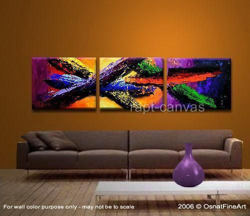 3 panel colorful wall deco art handmade abstract oil painting on canvas modern original directly YE009