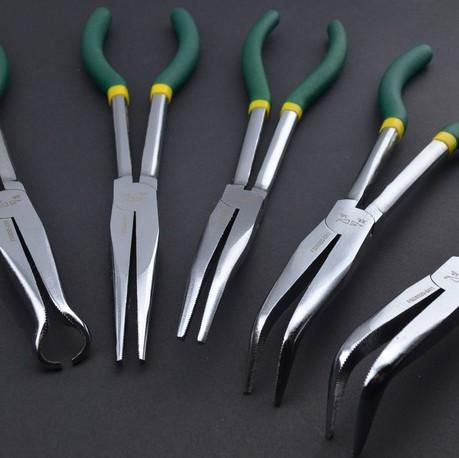 Shengda Hardware Tools 5pcs 11 inch Long Nose Pliers pliers, needle nose pliers tip angle forceps clamp pliers scimitar order<$18no track