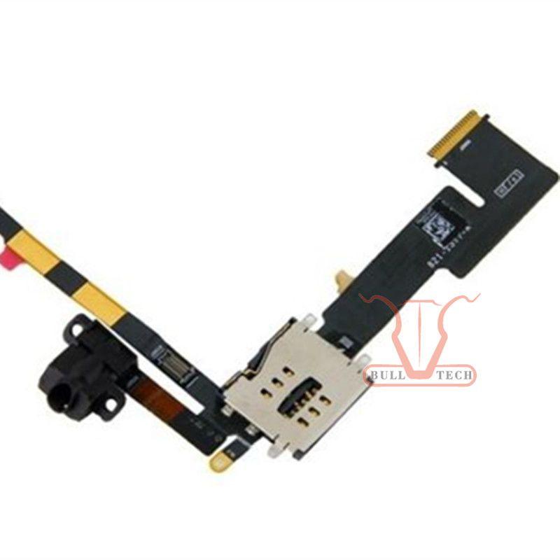Headphone Jack Audio Flex Cable w SIM Card Slot Socket for Apple iPad 2 3G Version