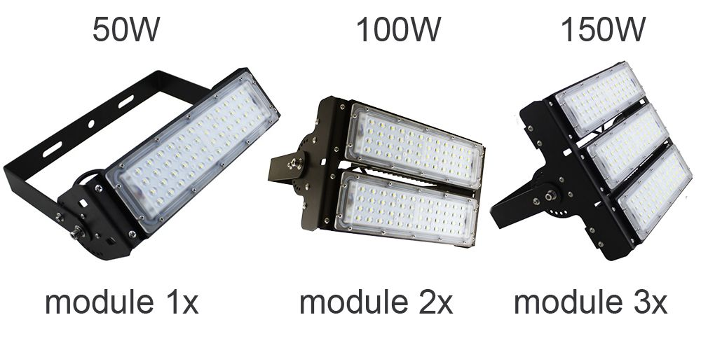 2017 50W 100W 150W 200W Adjustable LED High Bay Lighting,Retail Lights Low Bay -Moudle Design SMD 3030 Array