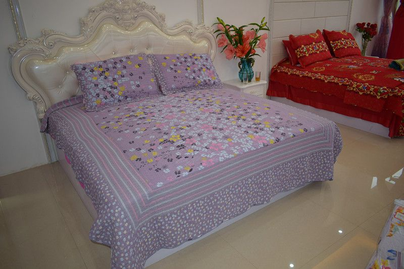 2018 hot sale 100%cotton multifunction quiliting four-piece bed cover