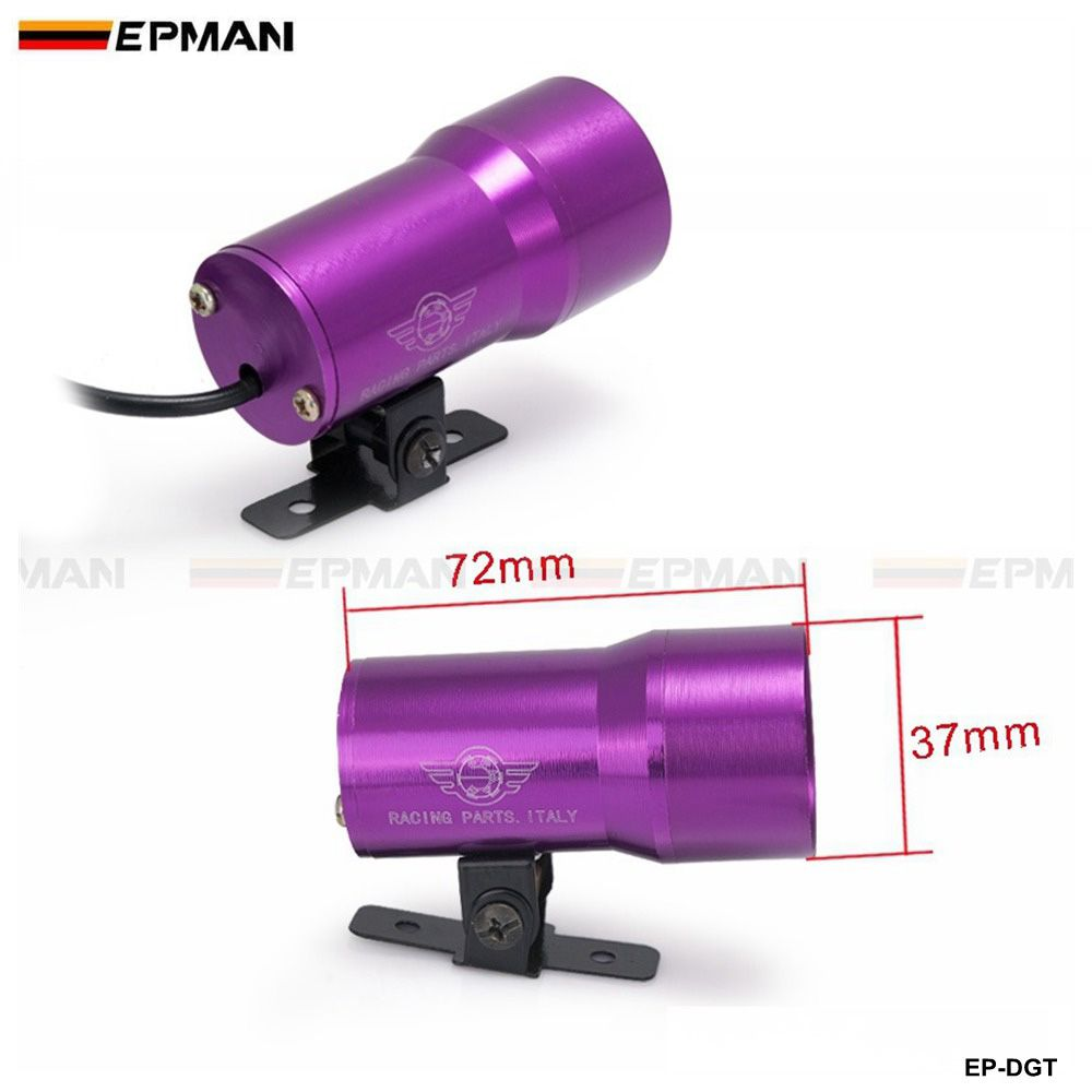 EPMAN Compact Micro Digital Smoked Lens Gauge Volt/Water Temp./ Oil Temp./Oil Press./Tachometer/Vacuum Car Meter/Gauge