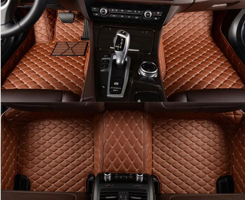 Nisaan GTR ( 2014-2015) Car Floor Mats ( ECO-Friendly XPE Leather 5D Diamond Stitching Designed) No Smell car mats