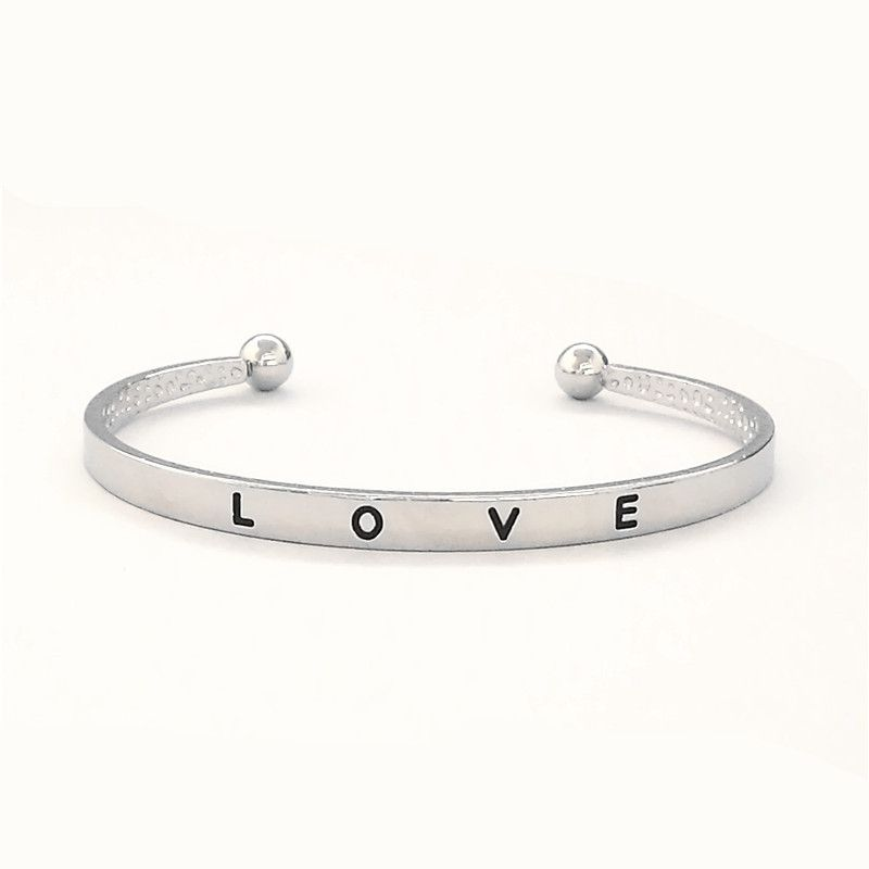Free Shipping 3 Colors simple love opening alloy Bracelet Simple Romantic Hot Sell Style Bangle Wholesale and Retail
