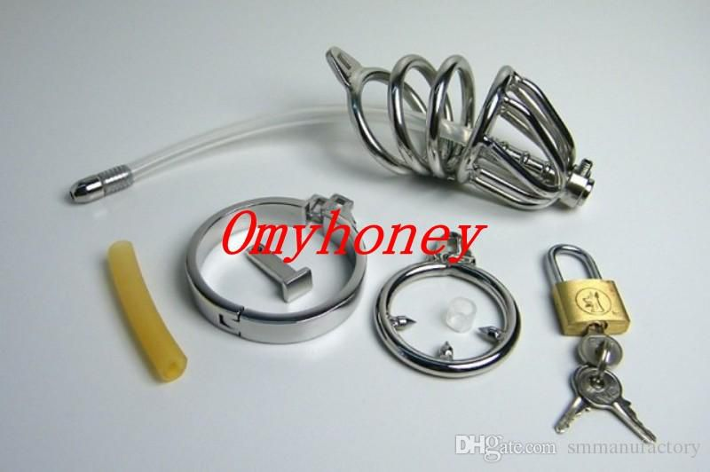 New Bondage Penis Plug male chastity devices belt stainless steel lockable cock cage penis ring cage, dildo cages,sex toys for men,M001