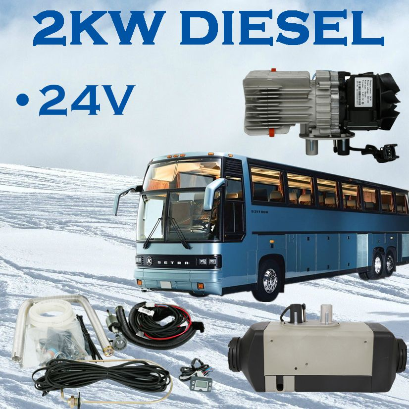 Steel and plastic 2 years warranty engine heater 2kw diesel 24v air parking heater for trucks boat cabin camper RV bus