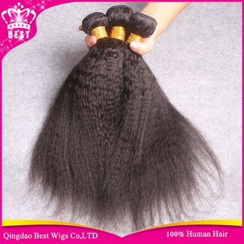 Grade 6A+ 100% Unprocessed Brazilian Virgin Kinky Straight Weave Straight Hair 3 pcs