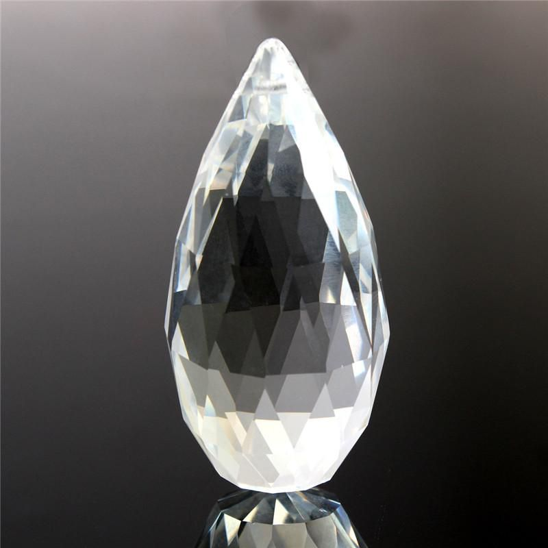 1pc 70mm Clear Crystal Glass Lamp Prisms Part Decoration Hanging Drop Pendant order<$18no track
