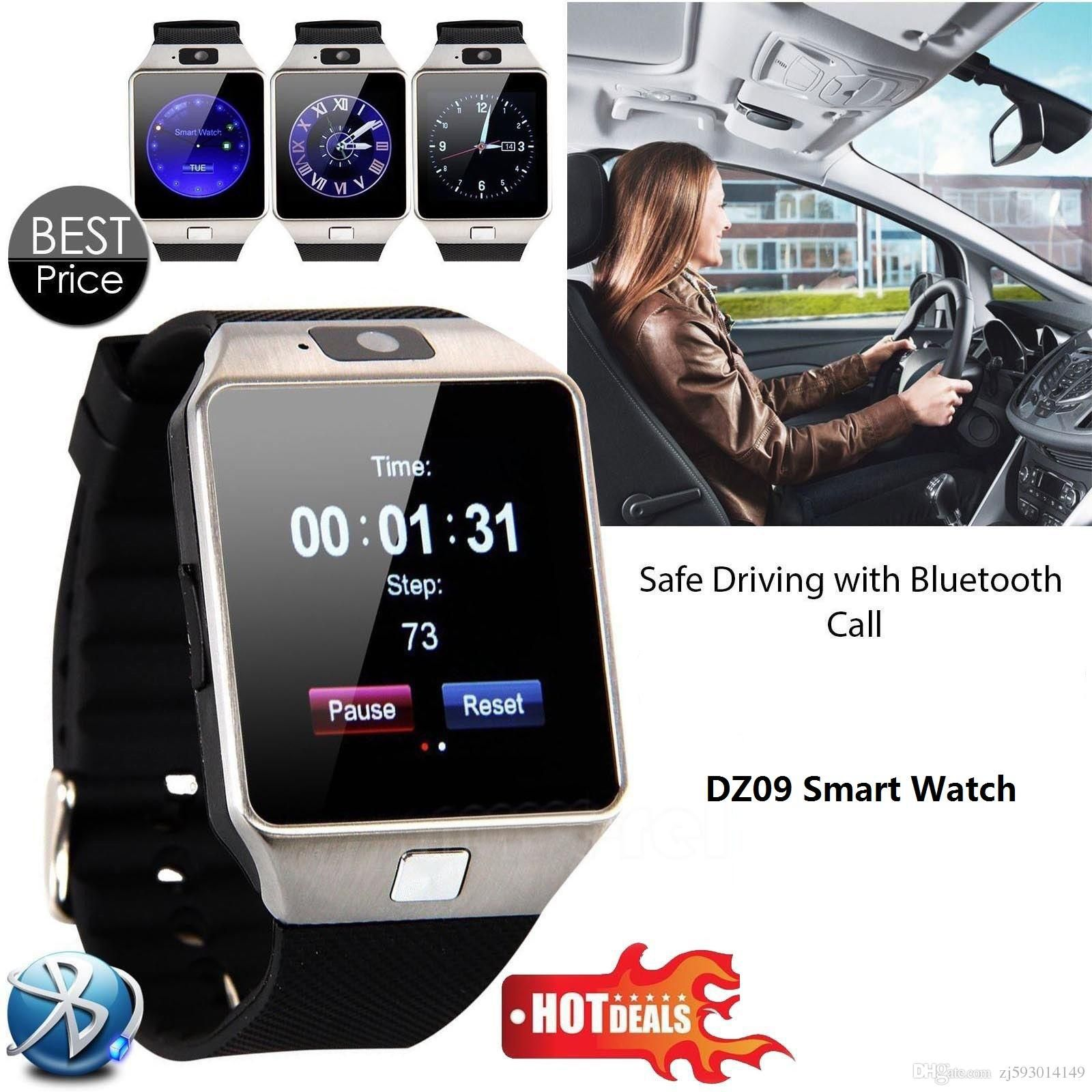 New Smart Watch dz09 With Camera Bluetooth WristWatch SIM Card Smartwatch For Apple Samsung Ios Android Phones Support Multi languages