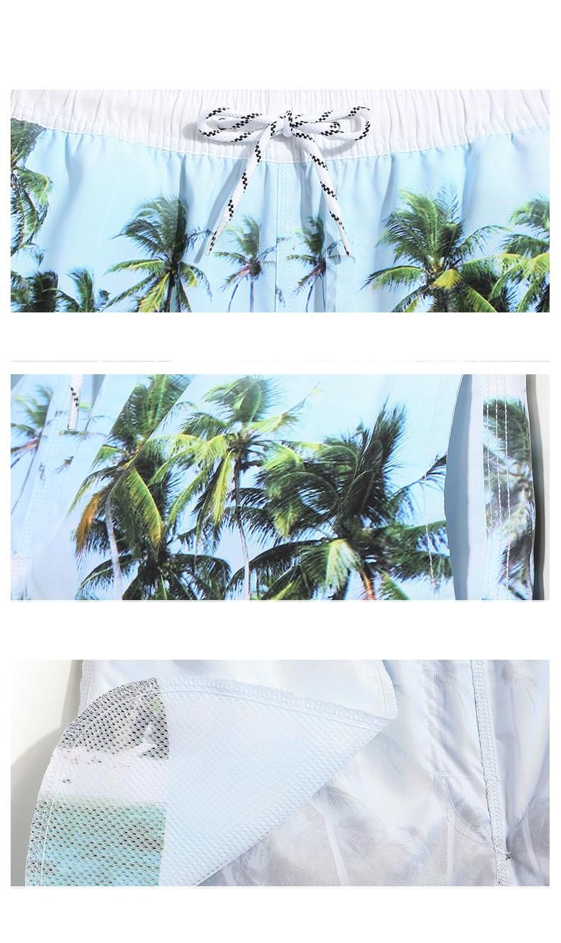 brand clothing for men summer swim shorts Coconut printed designer beach shorts casual loose shorts wear fashion trunks quick dry