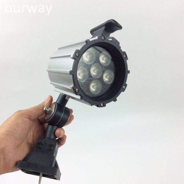 24VDC/100-240VAC 6W Short Arm LED Adjustable Machine Lamp Work Light with Switch Control
