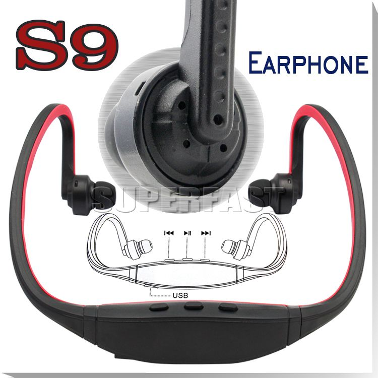 Bluetooth Headphone S9 Wireless Stereo Headset Sports Bluetooth Speaker Neckband Earphone Bluetooth 4.0 With Retail Package 20 Pieces DHL