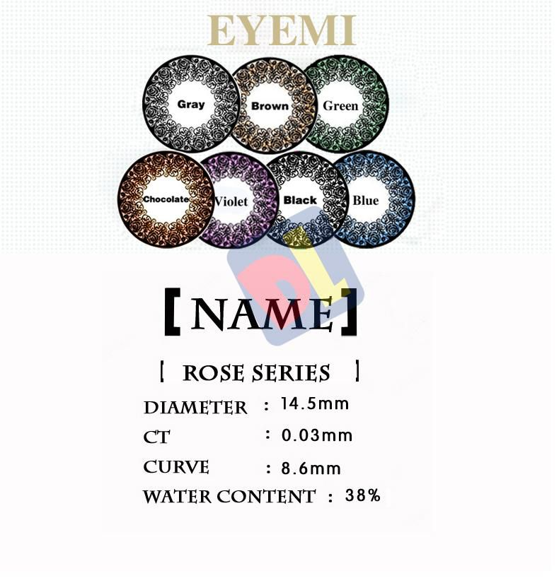 Rose Colorful Halloween Contact Lens Big Diameter Fruitcolor Candy Color Contact Lenses Lens prescription Lens Cosmetic Eye Lens