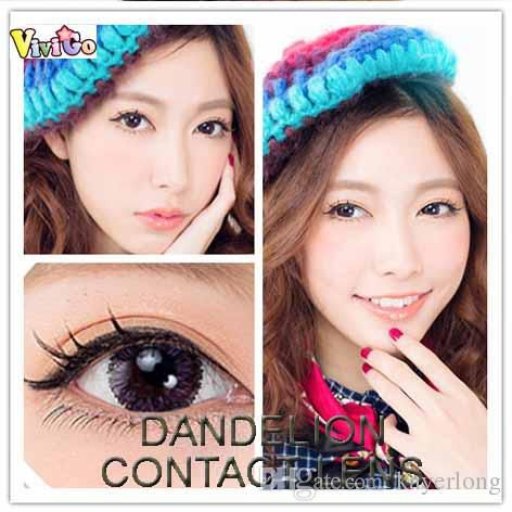 FREE SHIPPING popular sexy design fresh colorblends 2tone yearly used DANDELION color soft contact lenses 7 colors for mix