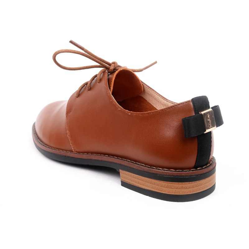 Factory custom shoes wholesale spring new style woman shoes high quality cowskin low heel comfortable genuine leather fashion shoes