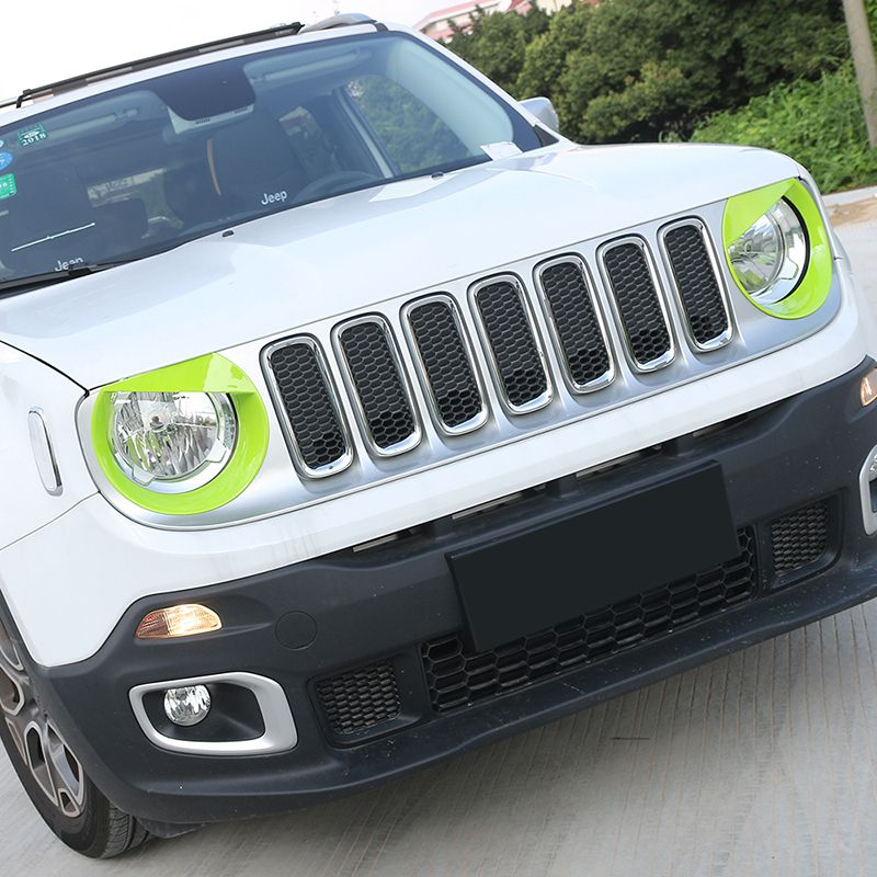 Auto Exterior Accessories Hot Sales High Quality Birdie Headlight Lamp Cover For Jeep Renegade 2015-2016 ABS