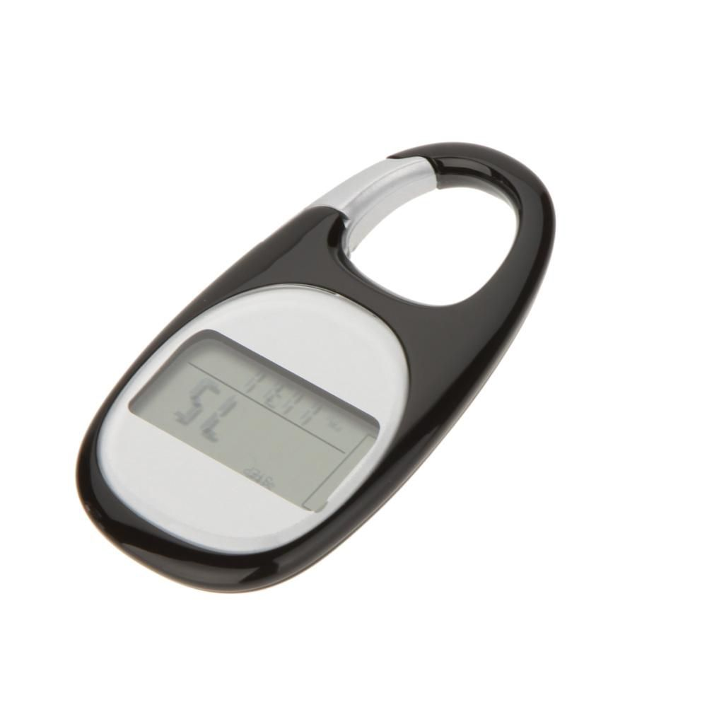 LCD Display Step Calorie Counter Walking Motion Tracker Run Distance Outdoor Sports 3D Pedometer Carabiner 7-day Active Memory order<$18no t