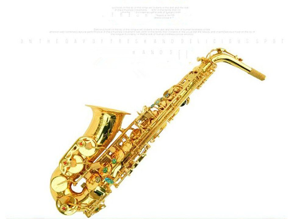 NEW Big Promotion France Henri selmer saxophone alto profissional Reference 802 Gold Lacquer Sax Music Ups Free Shipping