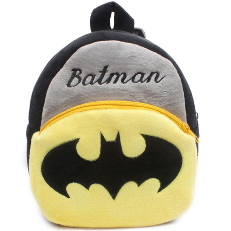 School Bags 23CM 9inch Cartoon Animals Backpacks Plush Shoulder Bag Schoolbags Toddler ironman Bat Man Superman Hulk Monster Captain America