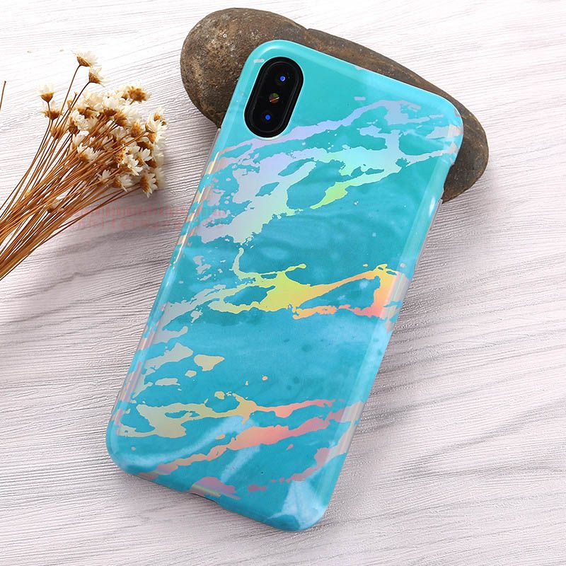 For iPhone X New Marble Painted Phone Case For 8plus 7plus 6 6S Plus Phone Case Back Cover Case TPU Phone Protector