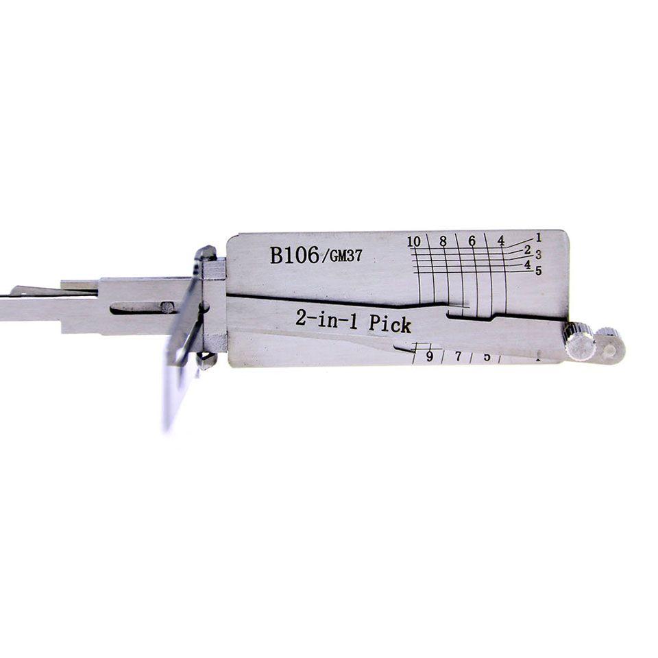 Mr. Li's Original Lishi B106/GM37 2in1 Decoder and Pick - Best Automotive Locks Unlock Tools on the Market