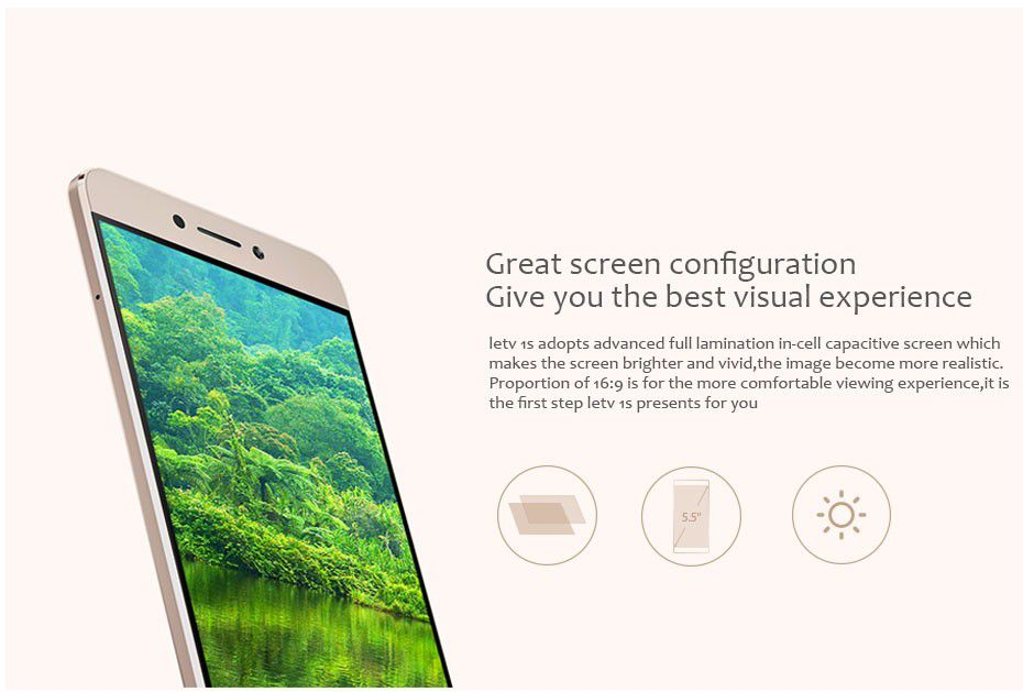 "Original 5.5"" Letv LeEco 1S X500 4G LTE Android 5.1 MTK Helio X10 Octa Core 3GB 16GB 13.0MP Camera 1920x1080 Cell Phone"